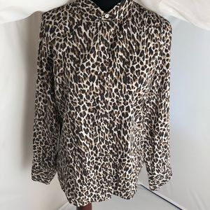 "J.Crew ""The Perfect Shirt"" button down in leopard"